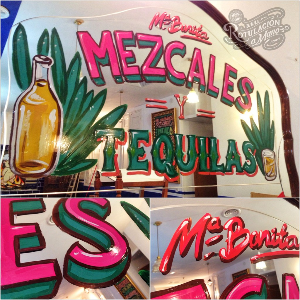 Maria Bonita Taco Bar Lavapies rotulación a mano lettering mexico murales (1)