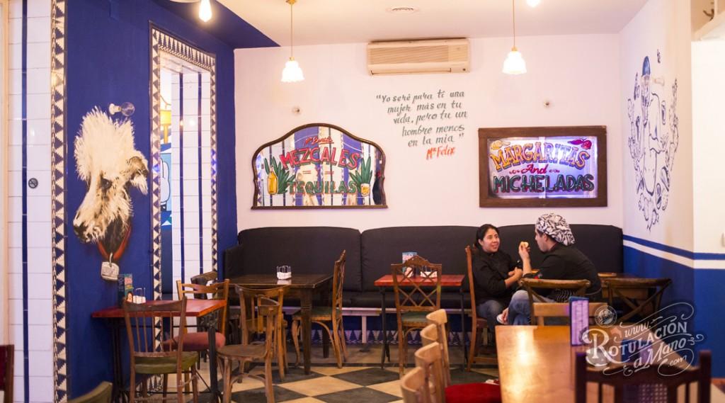 Maria Bonita Taco Bar Lavapies rotulación a mano lettering mexico murales (10)