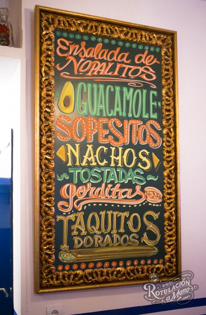 Maria Bonita Taco Bar Lavapies rotulación a mano lettering mexico murales (11)