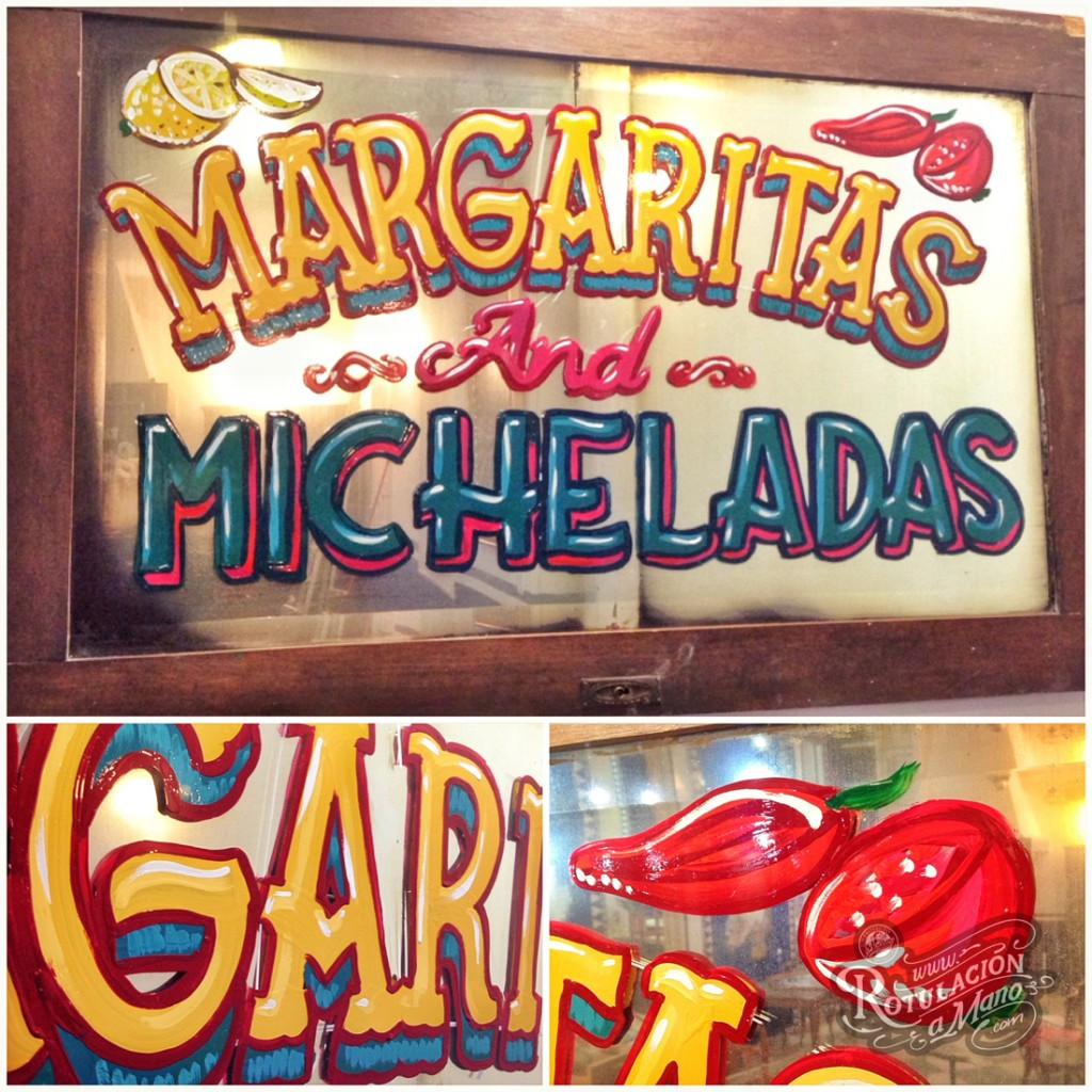 Maria Bonita Taco Bar Lavapies rotulación a mano lettering mexico murales (2)