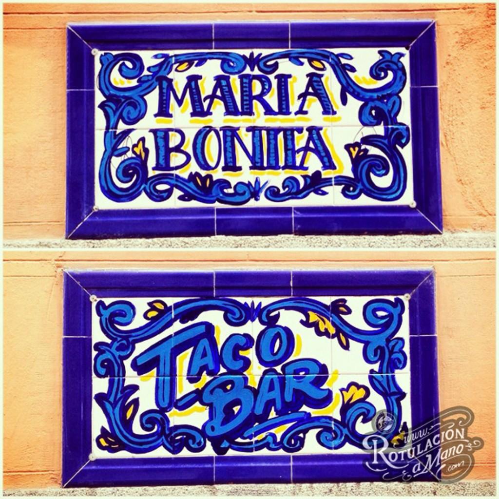 Maria Bonita Taco Bar Lavapies rotulación a mano lettering mexico murales (3)