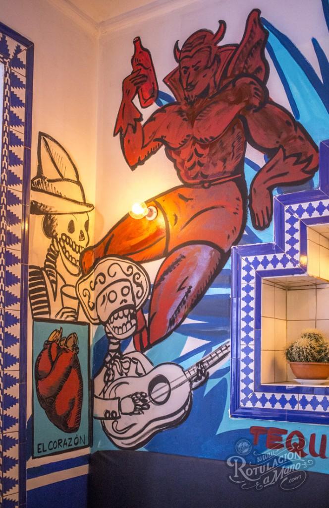 Maria Bonita Taco Bar Lavapies rotulación a mano lettering mexico murales (7)