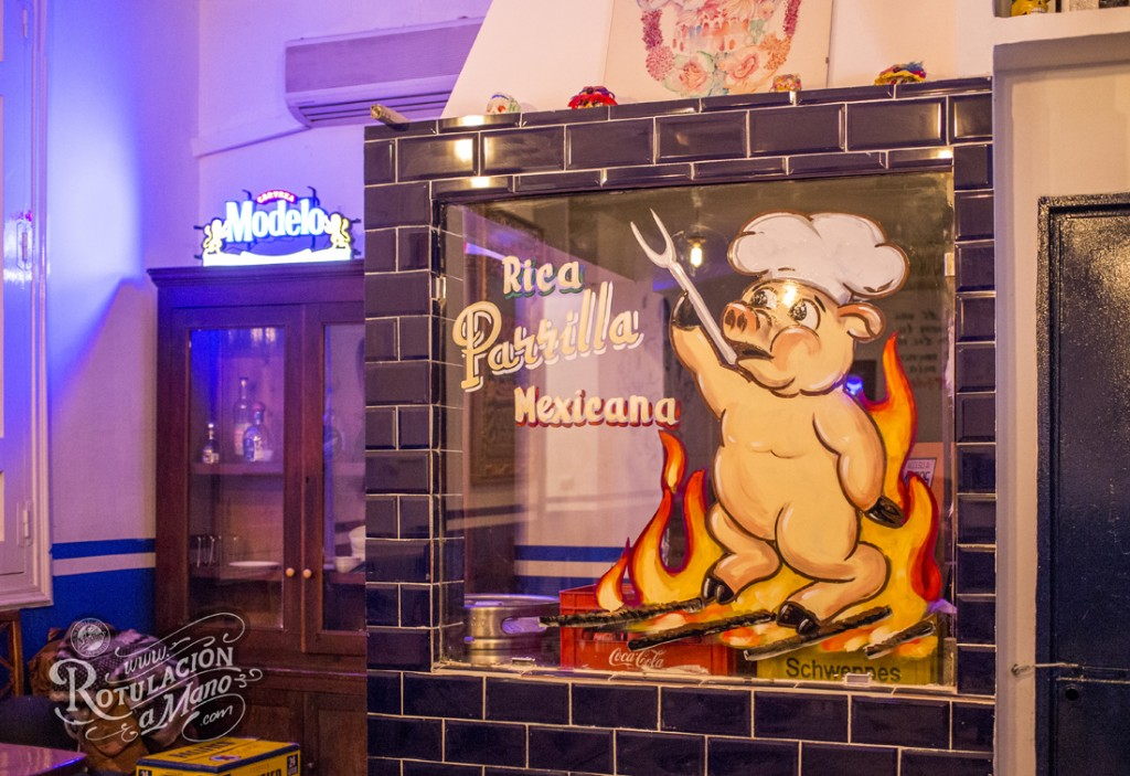 Maria Bonita Taco Bar Lavapies rotulación a mano lettering mexico murales (8)