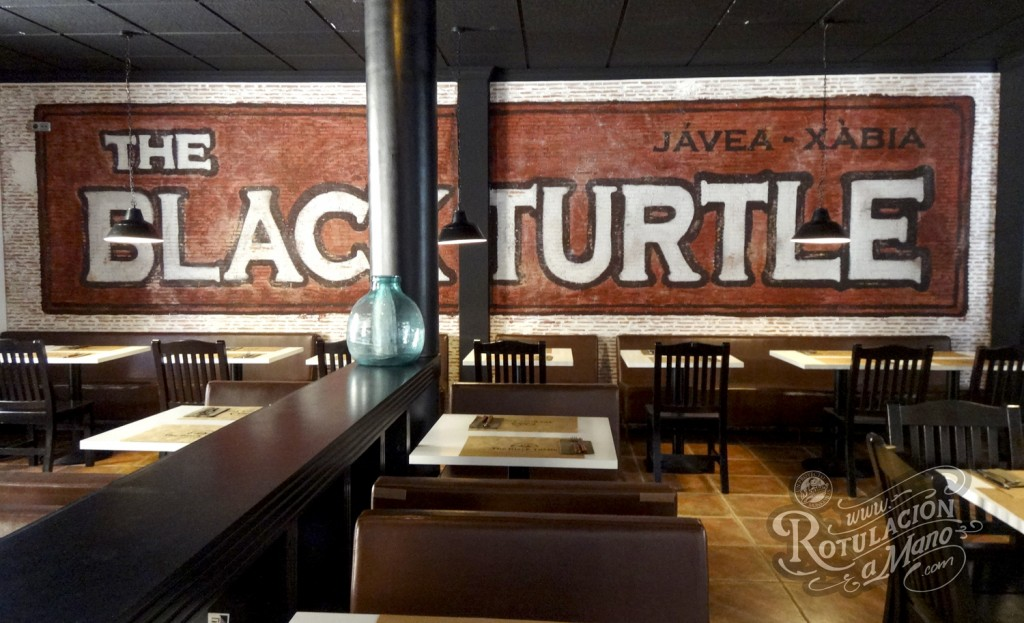 The black turtle xavea rotulacion decoracion murales murals graffiti handmade (5)
