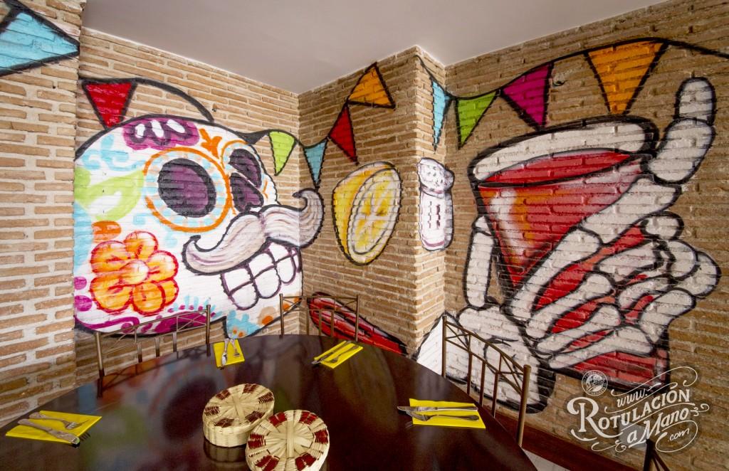Rotulacion A Mano Restaurante Colores De M Xico En