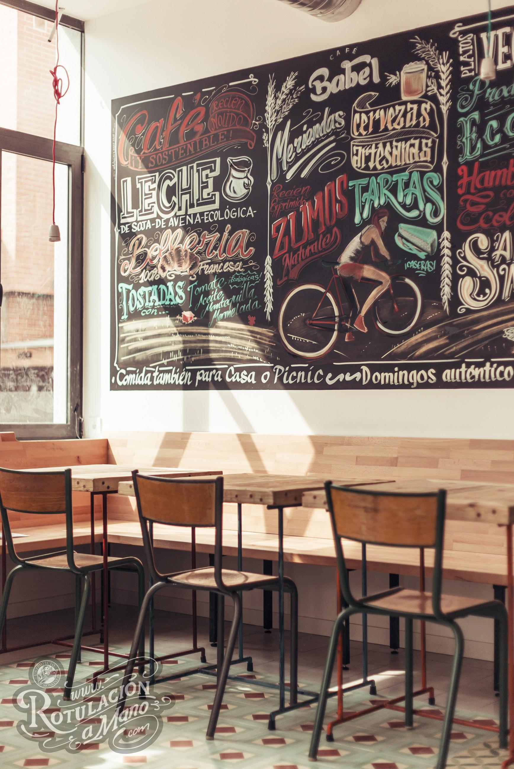 Rotulacion A Mano Pizarras - Pizarra-decoracion-pared