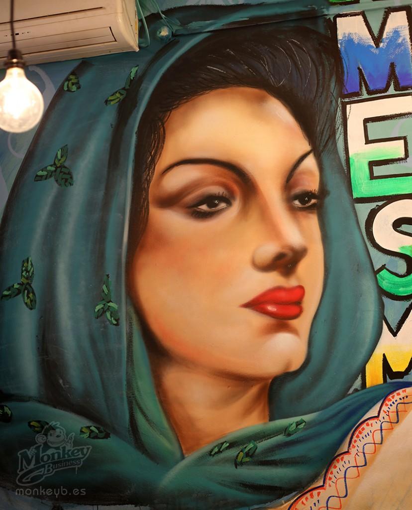 maria felix graffiti retrato