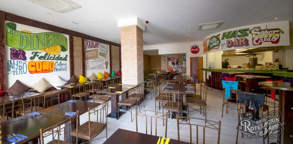 Rotulacion a mano restaurante colores de m xico en for Decoraciones para cevicherias