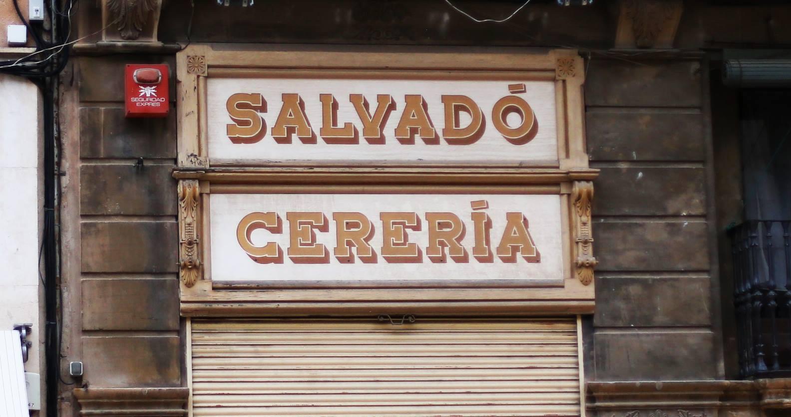 Salvadó Cereria, esmaltes sinteticos sobre madera; autor desconocido. #reus — en Reus.