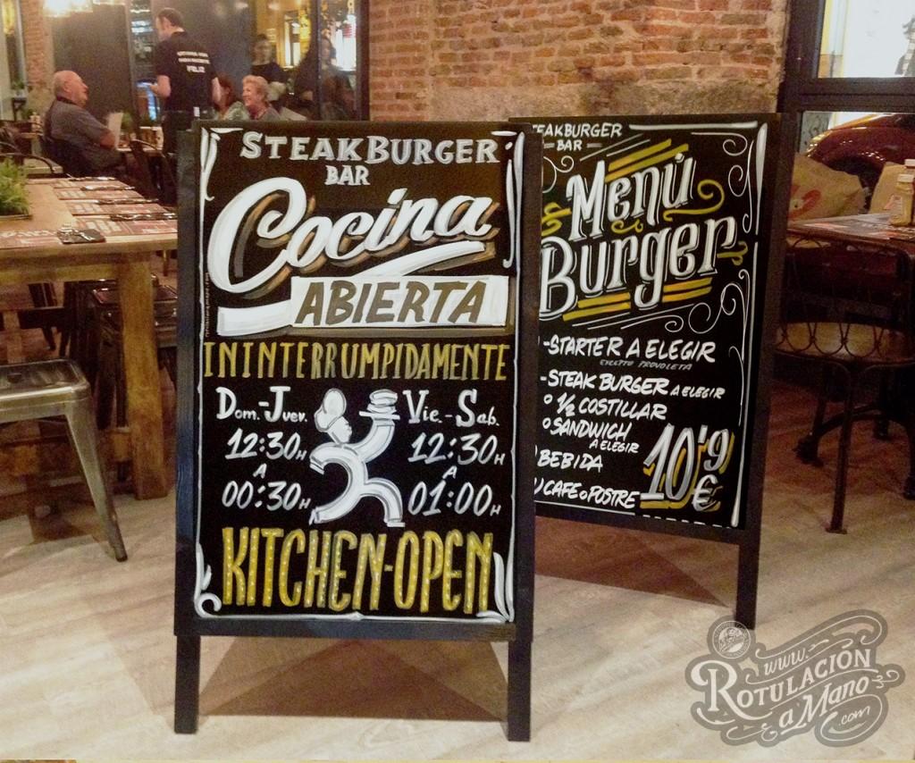 Caballetes para la calle Steakburger