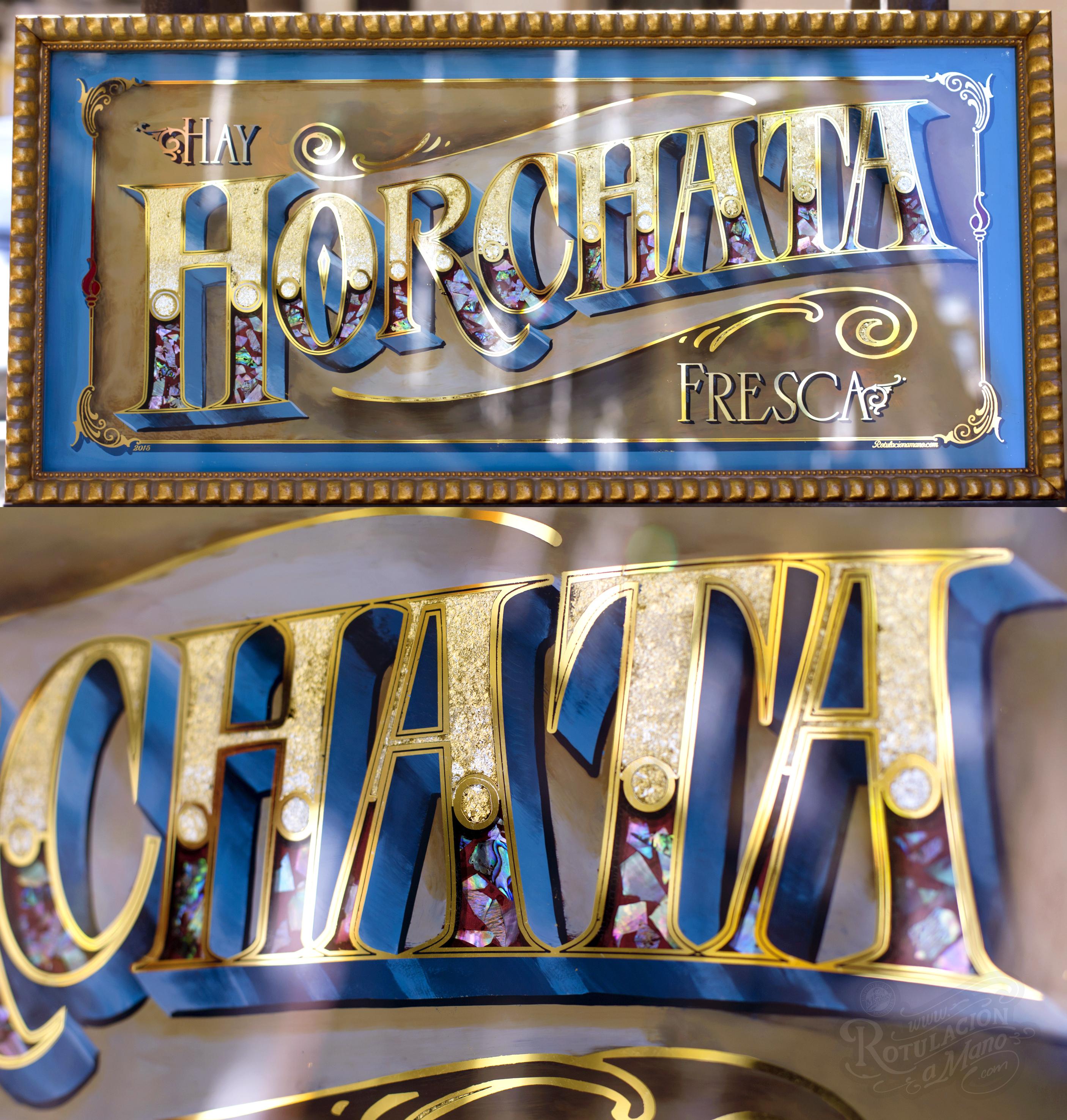 rotulo pan de oro horchata