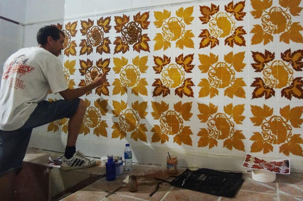 Creando los patrones en las paredes