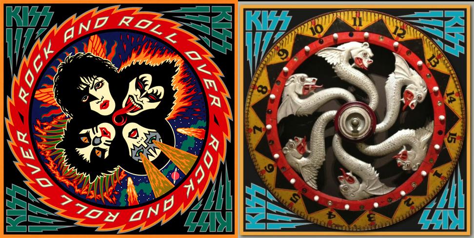 La portada del album de Kiss (1976) y una posible inspiración de la feria en Coney Island.